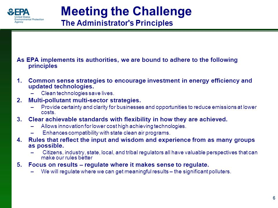 17 The Role of Energy Efficiency and Demand Response Multiple benefits of supplementing our rules with actions to reduce electricity demand by improving energy efficiency would: –Substantially cut total costs to power sector of controlling conventional pollutants –Achieve reductions in CO2 through idling or retirement of inefficient fossil-fuel-fired generating stations that would no longer be needed or economic –Avoid or defer need for new generation –Reduce conventional air pollutant emissions, especially on high electricity demand days (which coincide with poor air quality) –Reduce concerns about reliability of electricity supply –Lower consumer bills EPA can encourage but cannot mandate energy efficiency.