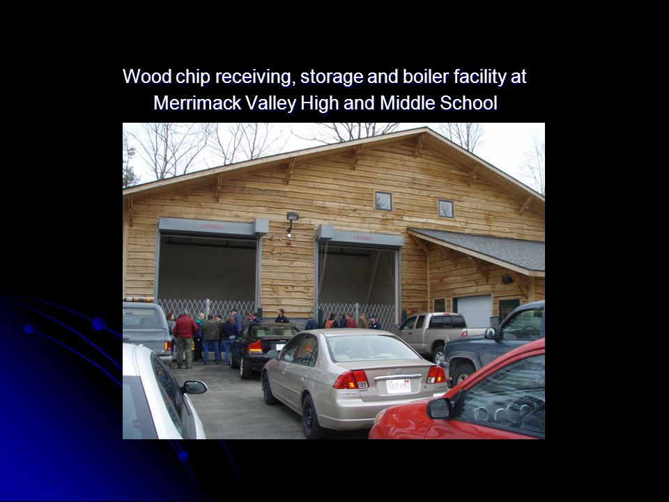 Wood chip receiving, storage and boiler facility at Wood chip receiving, storage and boiler facility at Merrimack Valley High and Middle School Merrim