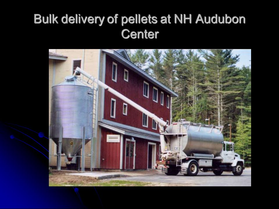 Bulk delivery of pellets at NH Audubon Center