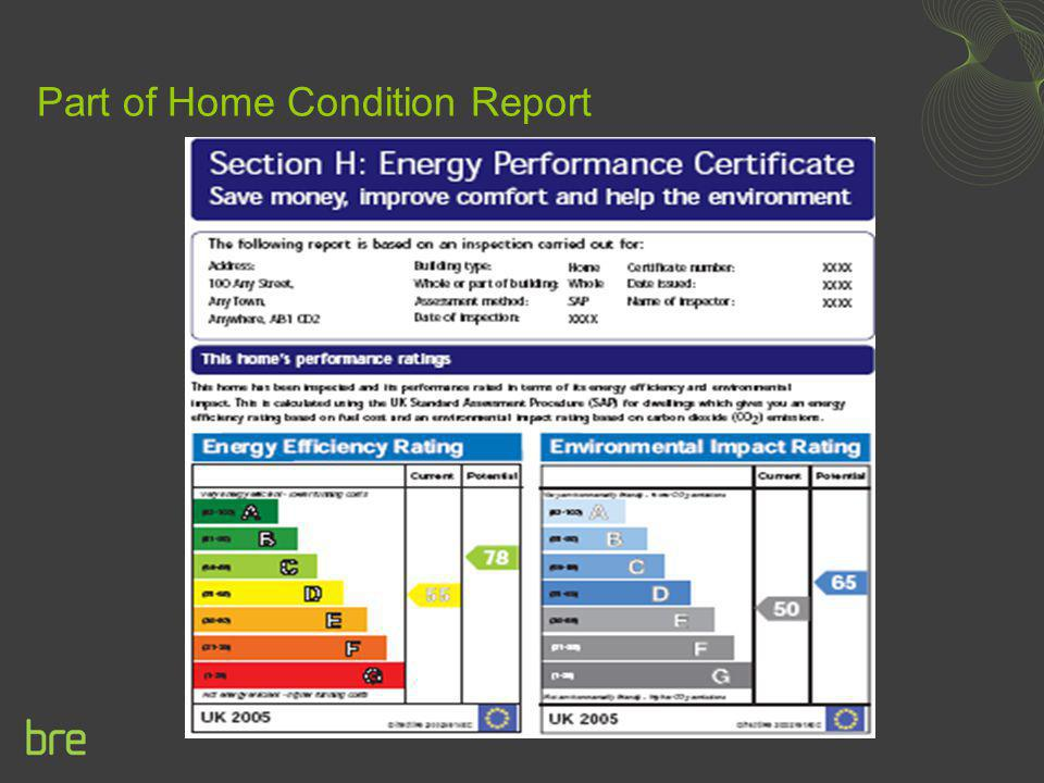 Part of Home Condition Report