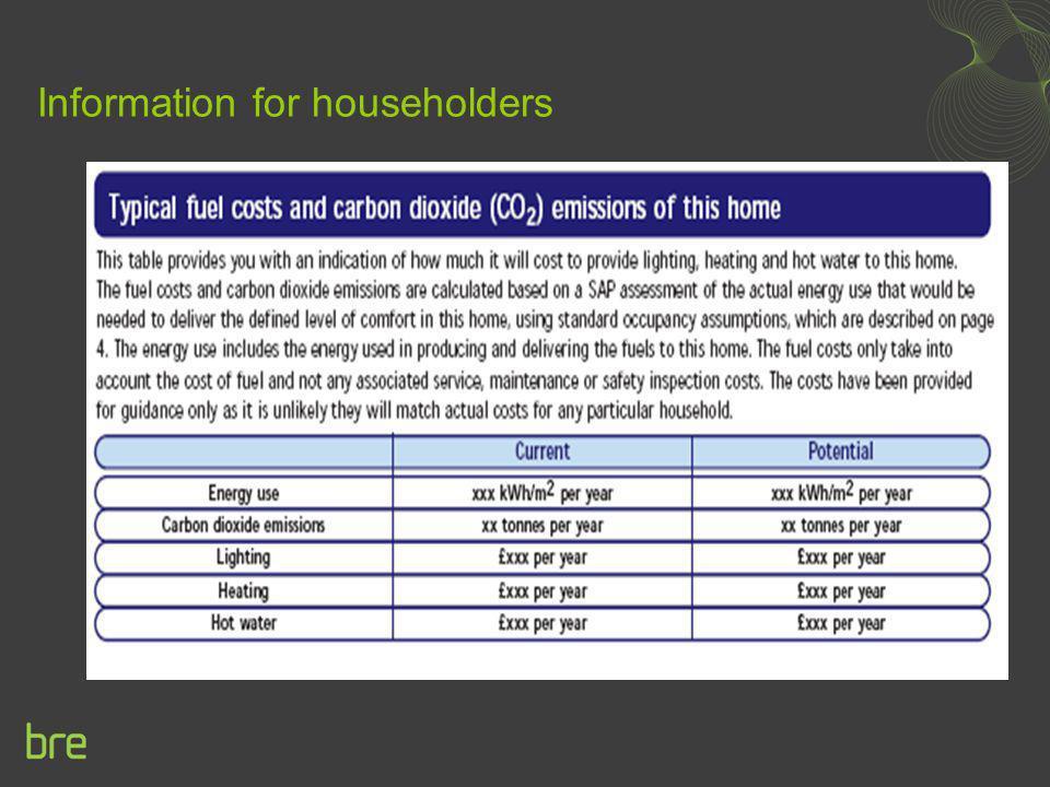 Information for householders