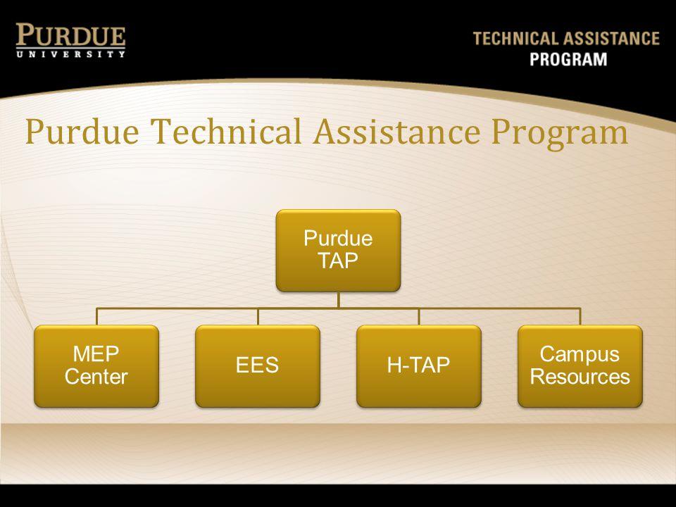 Purdue Technical Assistance Program Purdue TAP MEP Center EESH-TAP Campus Resources
