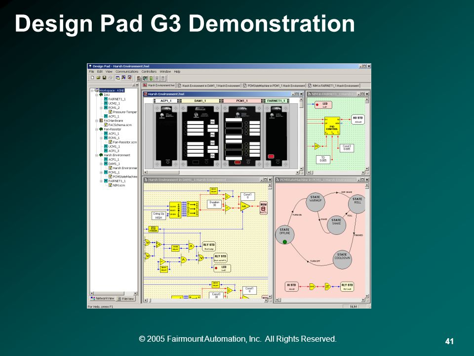 © 2005 Fairmount Automation, Inc. All Rights Reserved. 41 Design Pad G3 Demonstration