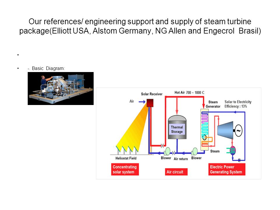 Our references/ engineering support and supply of steam turbine package(Elliott USA, Alstom Germany, NG Allen and Engecrol Brasil) -.