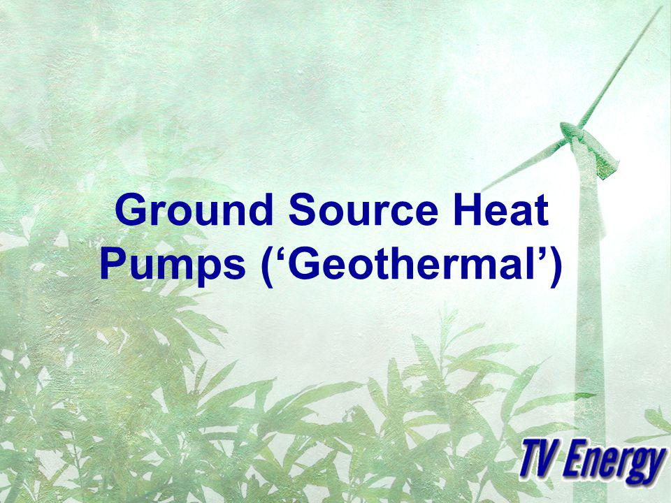 Why use the ground? Ground Temperatures below ~10m near constant throughout the year