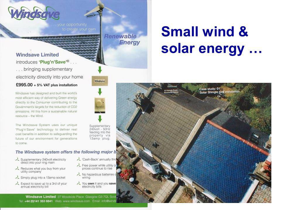 Small wind & solar energy …