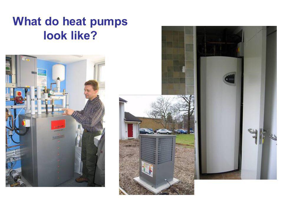 What do heat pumps look like