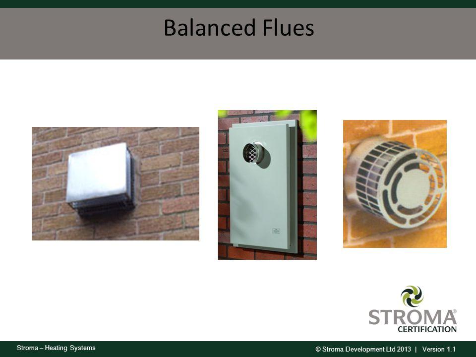 © Stroma Development Ltd 2013 | Version 1.1 Stroma – Heating Systems Balanced Flues