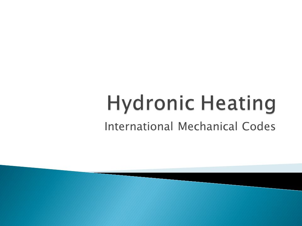 International Mechanical Codes
