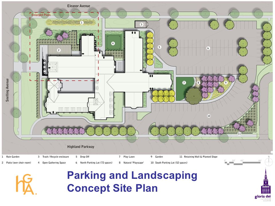 Parking and Landscaping Concept Site Plan