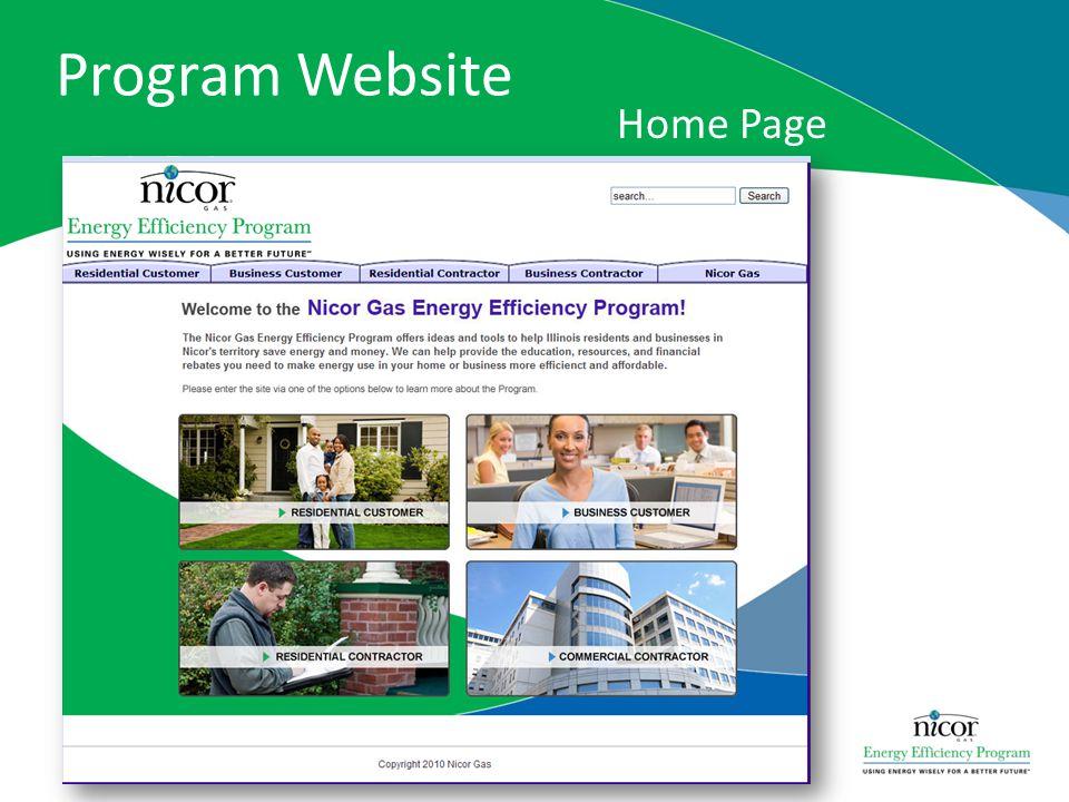 Program Website Home Page