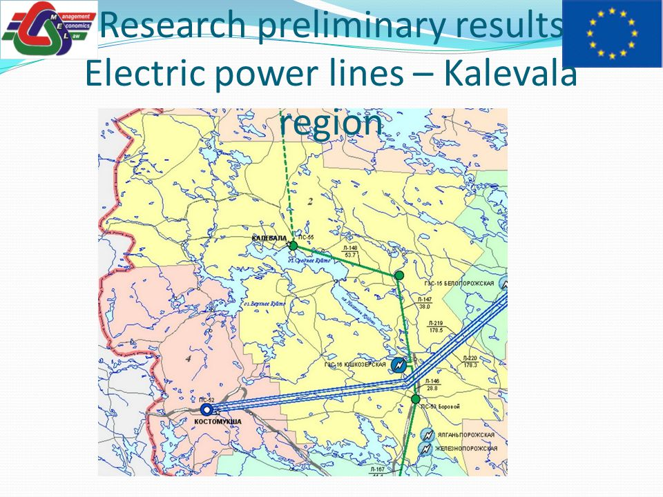 Research preliminary results Electric power lines – Kalevala region