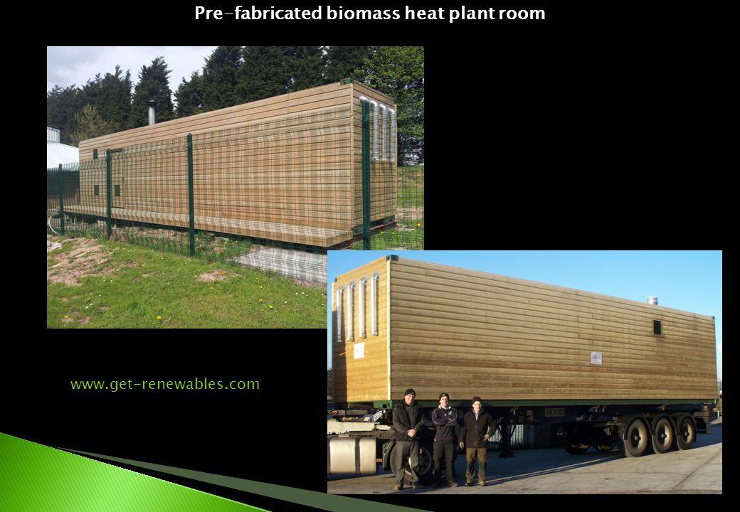 Pre-fabricated biomass heat plant room www.get-renewables.com