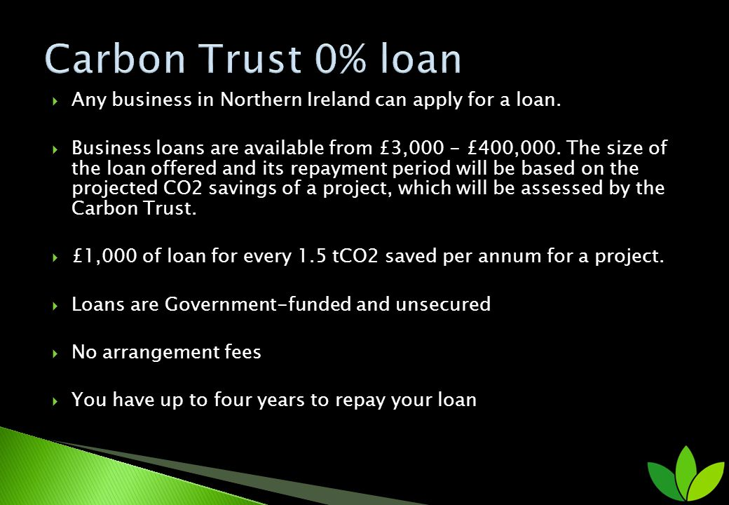 Any business in Northern Ireland can apply for a loan.