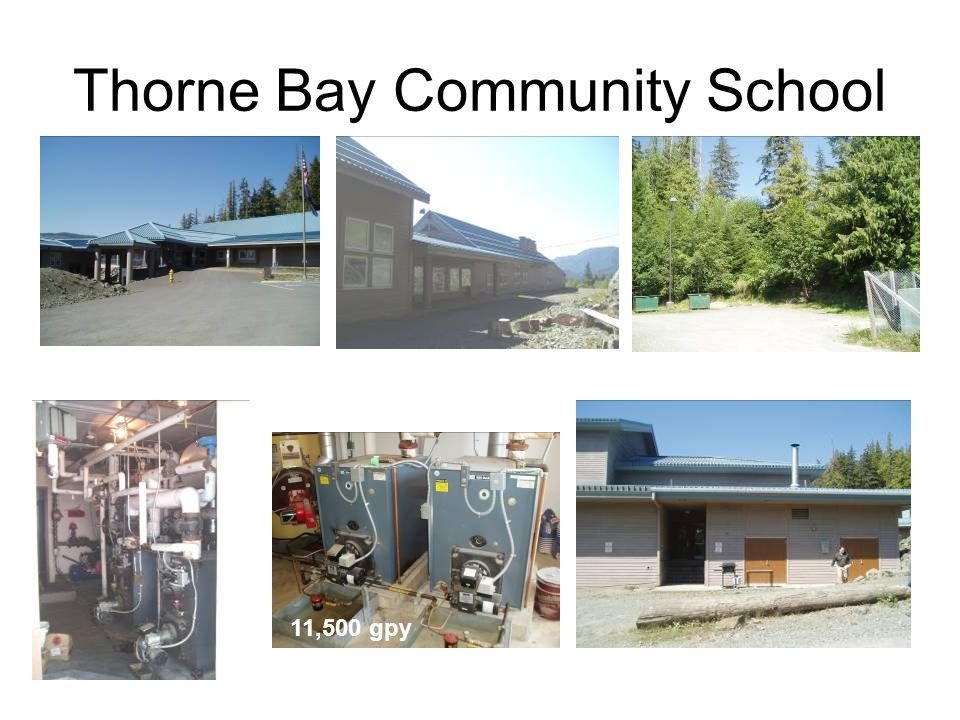Thorne Bay Community School 11,500 gpy