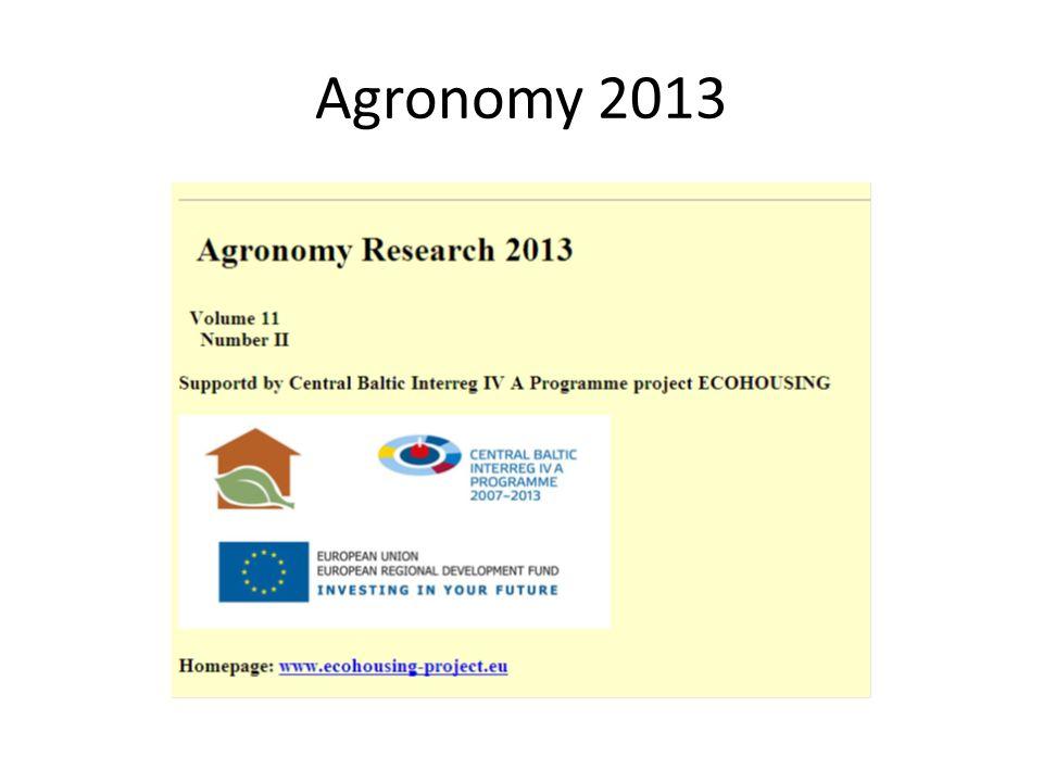 Agronomy 2013
