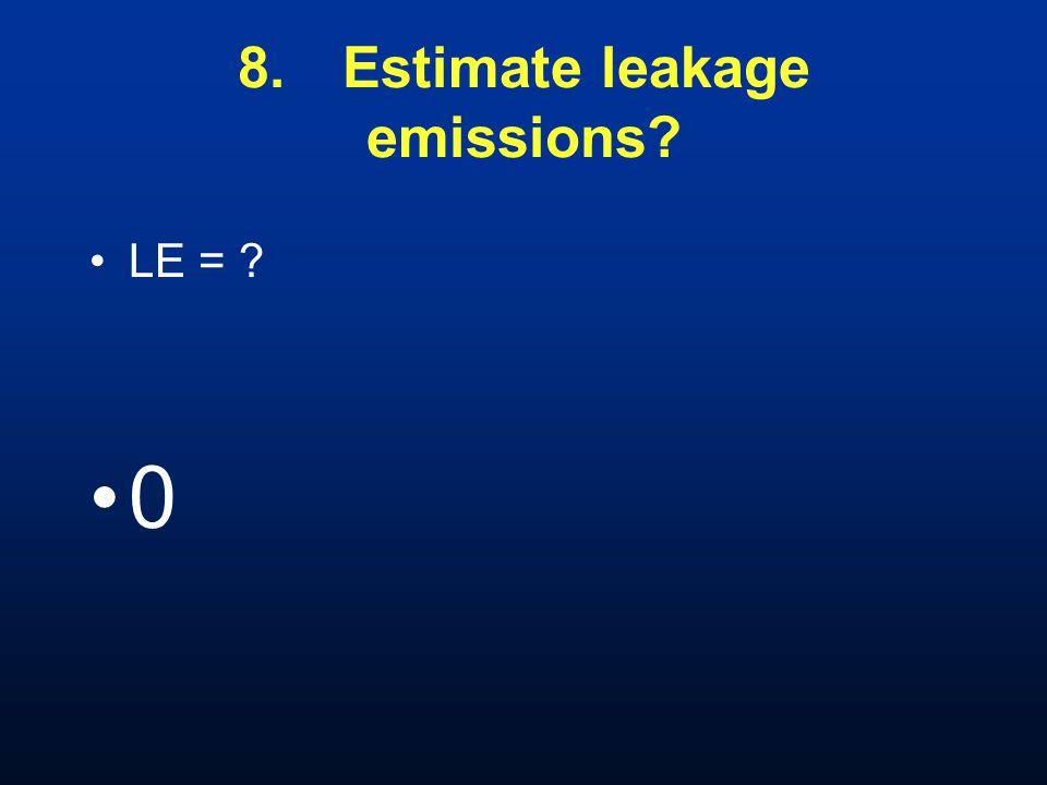 8.Estimate leakage emissions LE = 0