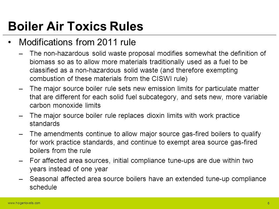 www.hoganlovells.com Boiler Air Toxics Rules Discussion 7