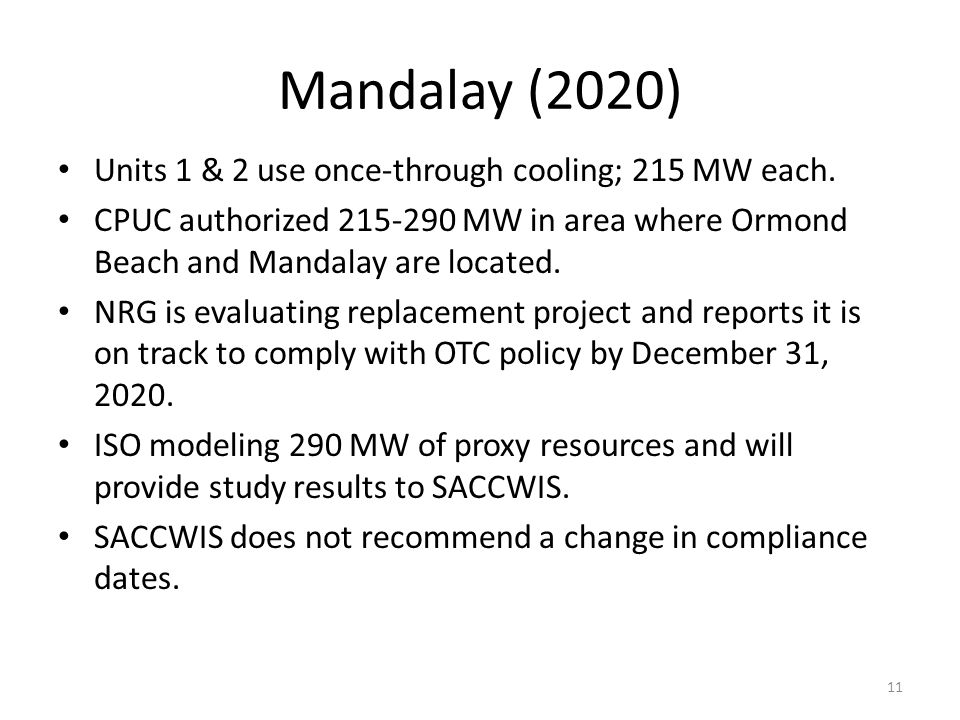 Mandalay (2020) Units 1 & 2 use once-through cooling; 215 MW each.