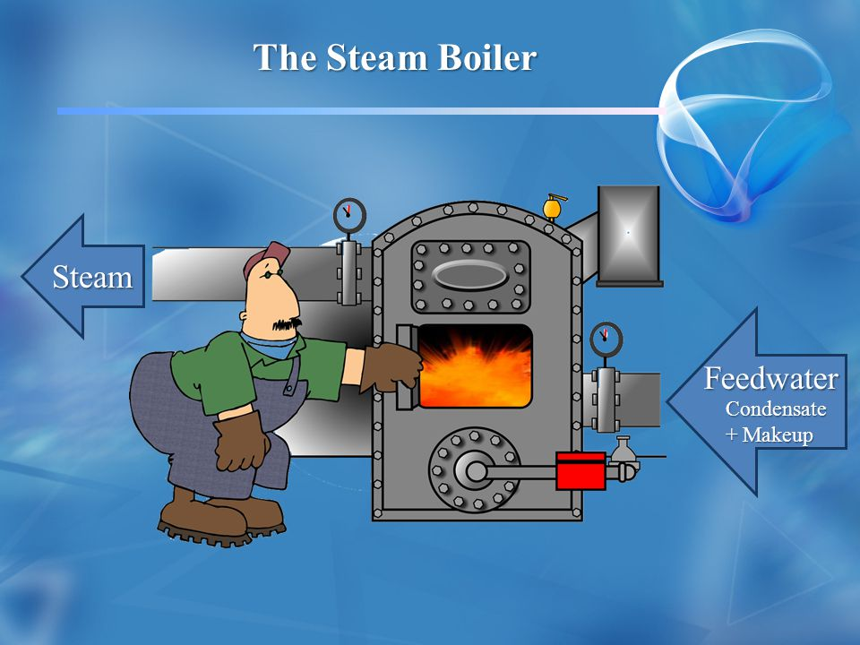 The Steam Boiler Feedwater Condensate + Makeup Steam