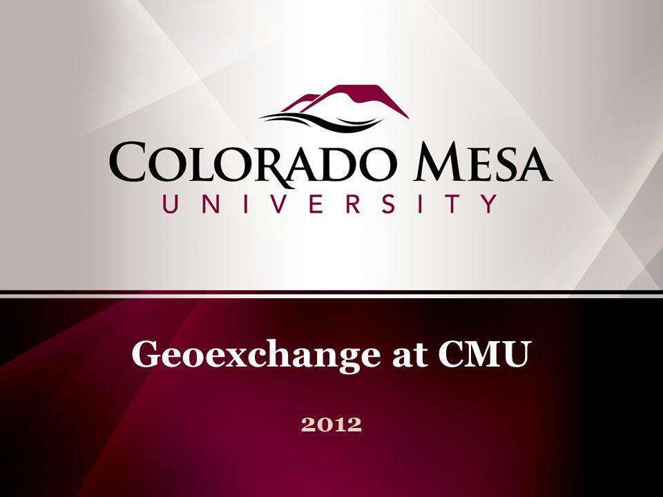 Geoexchange at CMU 2012