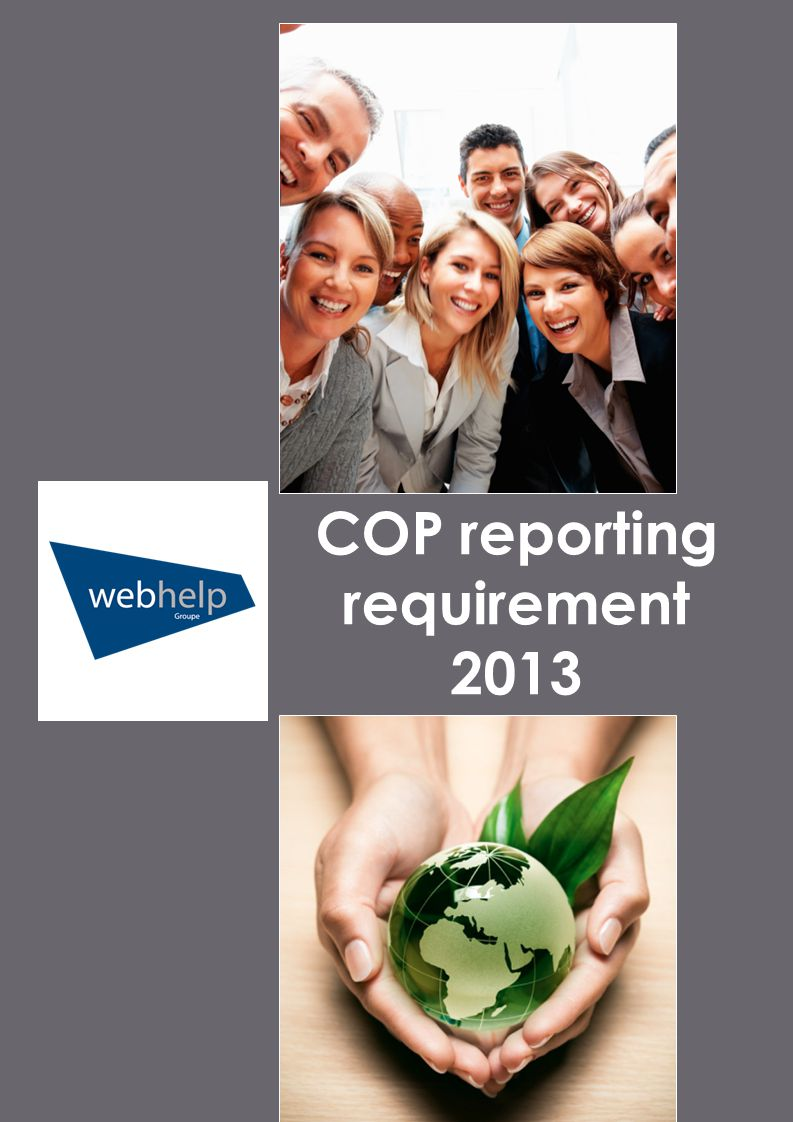 COP reporting requirement 2013