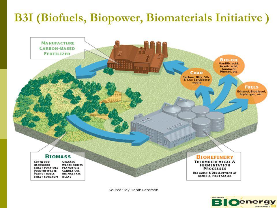 B3I (Biofuels, Biopower, Biomaterials Initiative ) Source: Joy Doran Peterson