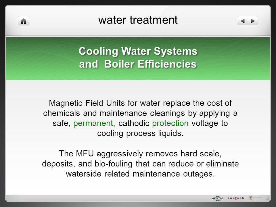 water treatment Cooling Water Systems and Boiler Efficiencies Cooling Water Systems and Boiler Efficiencies Magnetic Field Units for water replace the