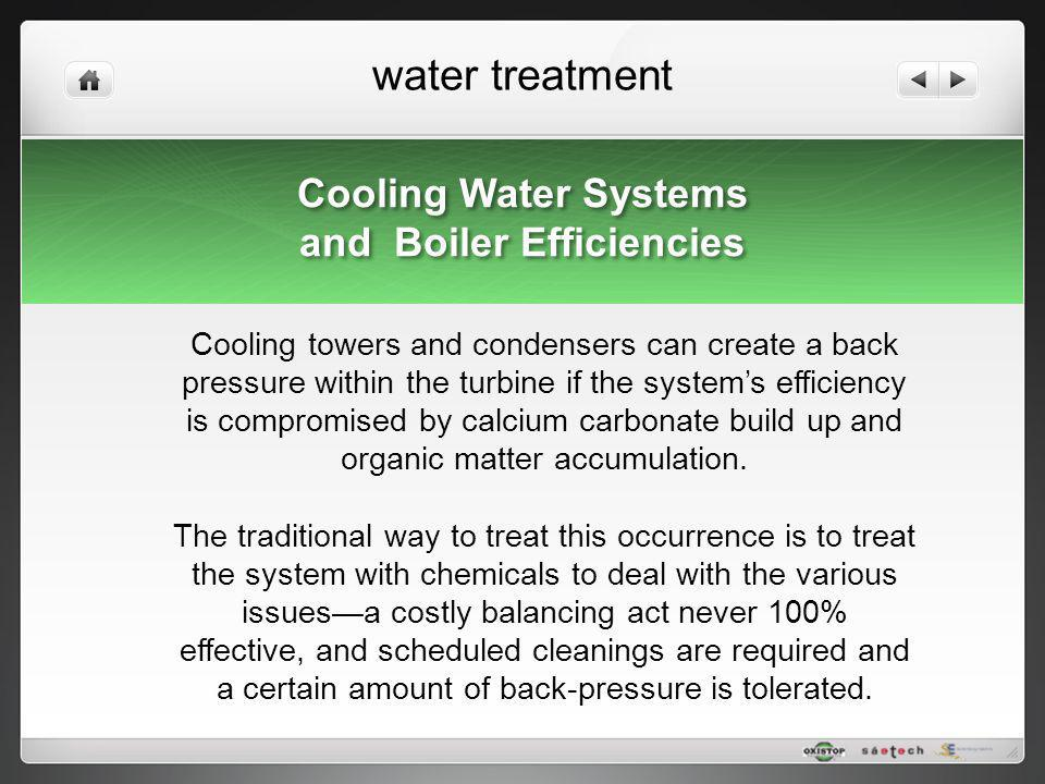 water treatment Cooling Water Systems and Boiler Efficiencies Cooling Water Systems and Boiler Efficiencies Cooling towers and condensers can create a