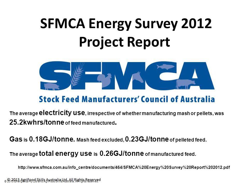 © 2013 Energetics Pty Ltd and AgriFood Skills Australia.