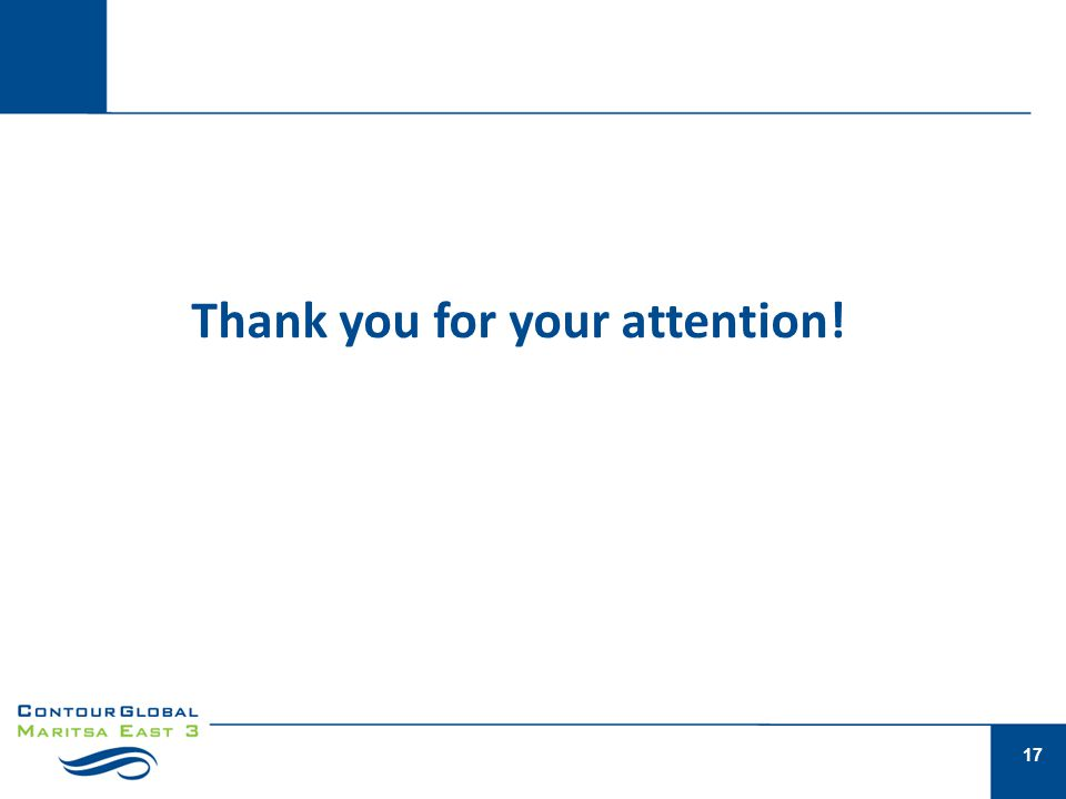 17 Thank you for your attention!