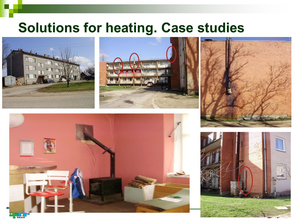 Solutions for heating. Case studies