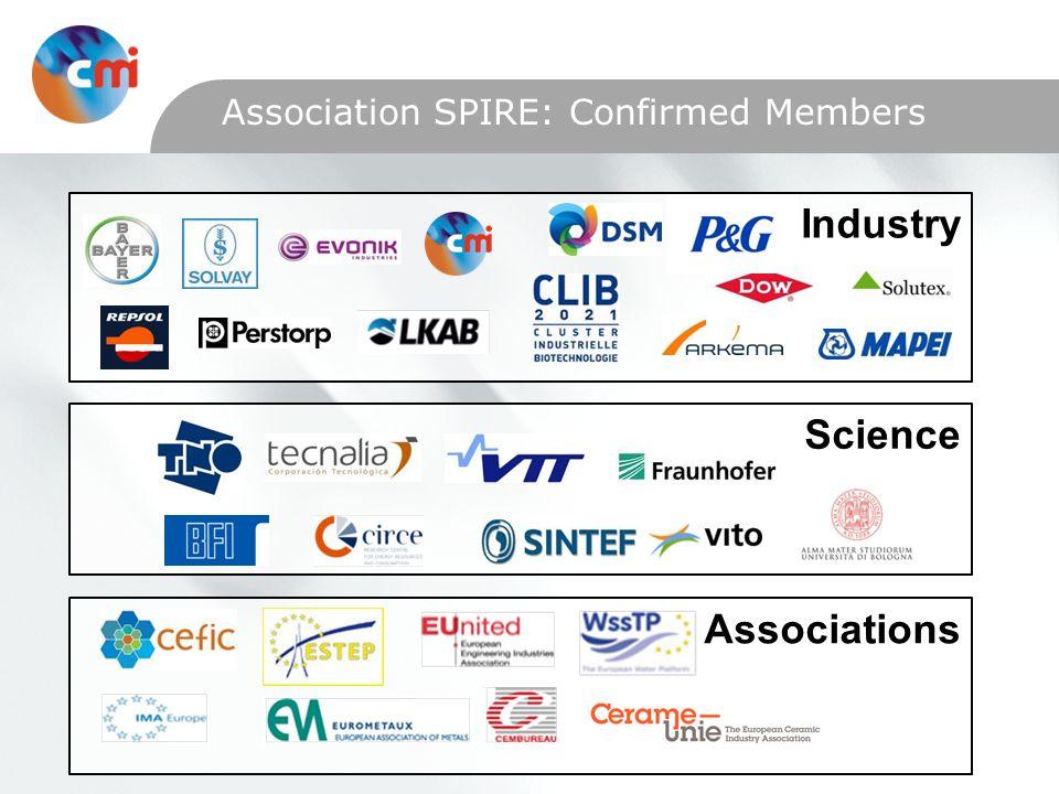 Association SPIRE: Confirmed Members AssociationsScienceIndustry