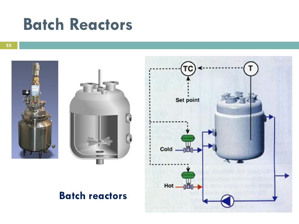 Batch Reactors 33 Batch reactors