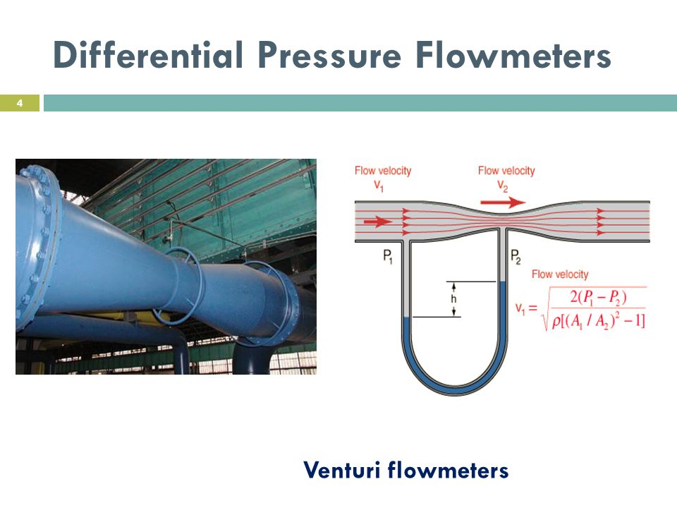 Venturi flowmeters Differential Pressure Flowmeters 4