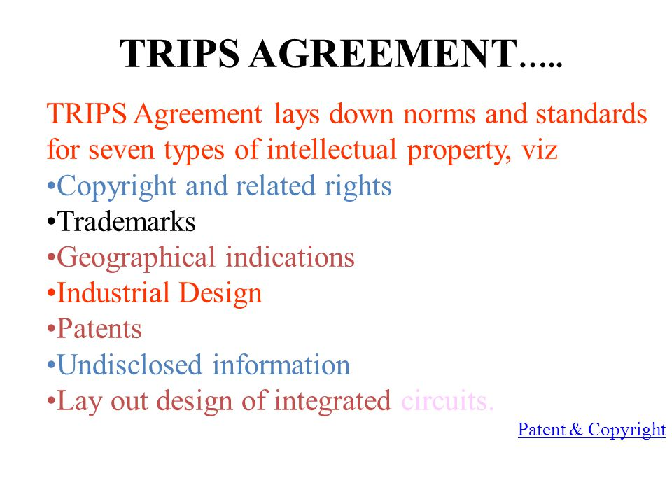 TRIPS AGREEMENT …..