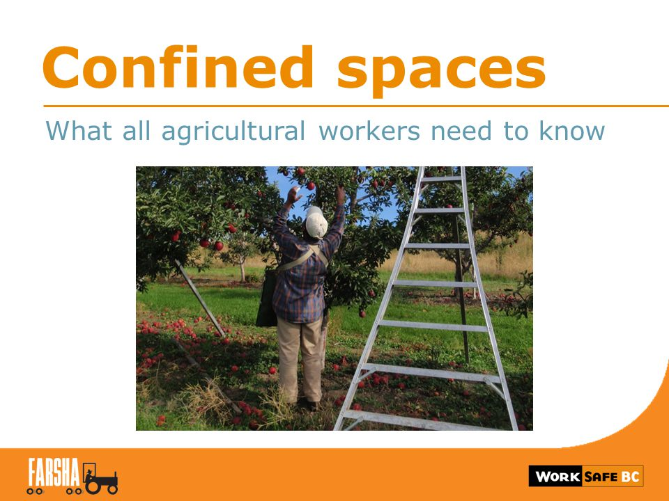 Confined spaces What all agricultural workers need to know