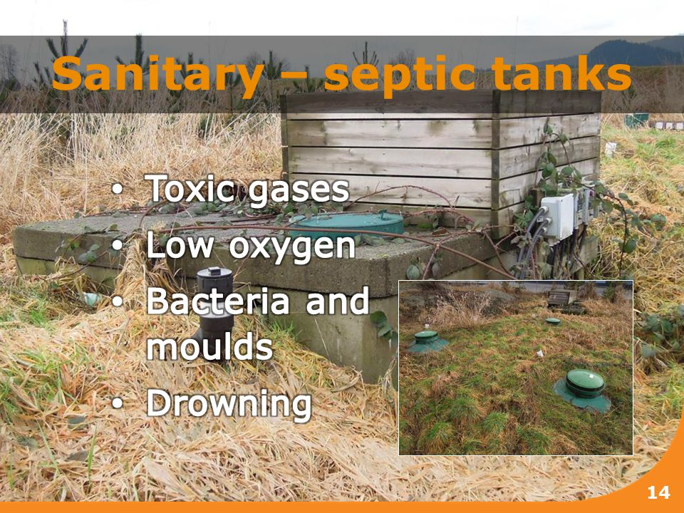 Sanitary – septic tanks 14