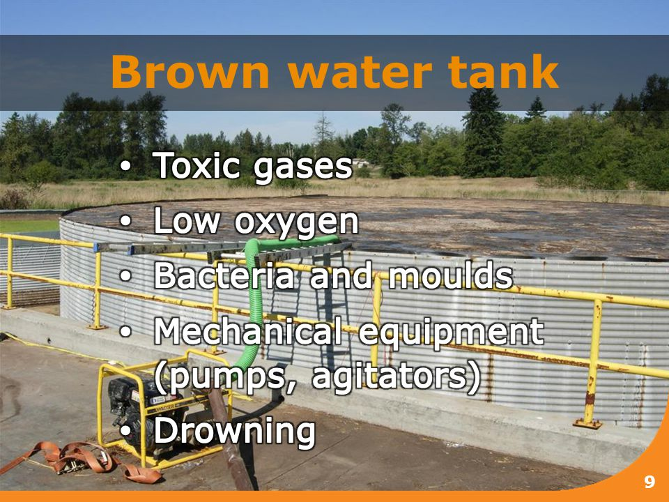 Brown water tank 9
