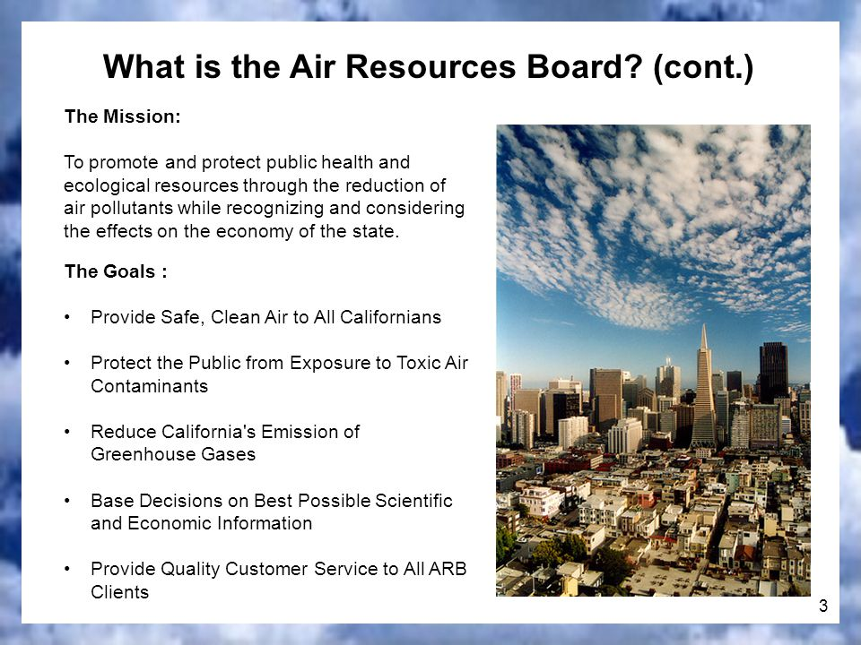 3 What is the Air Resources Board.