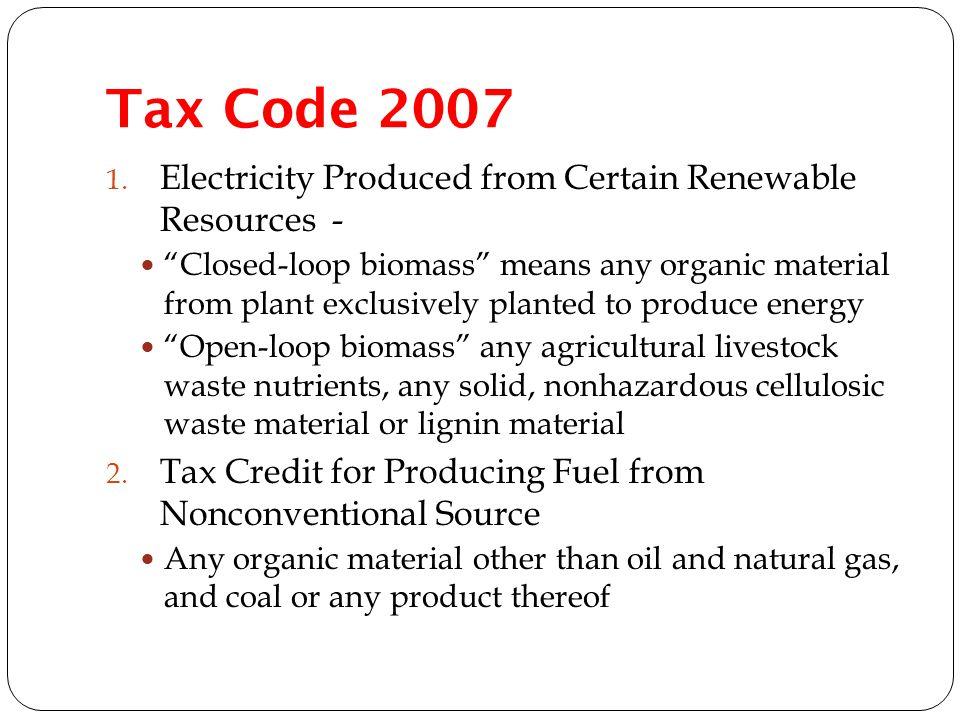 Tax Code 2007 1.