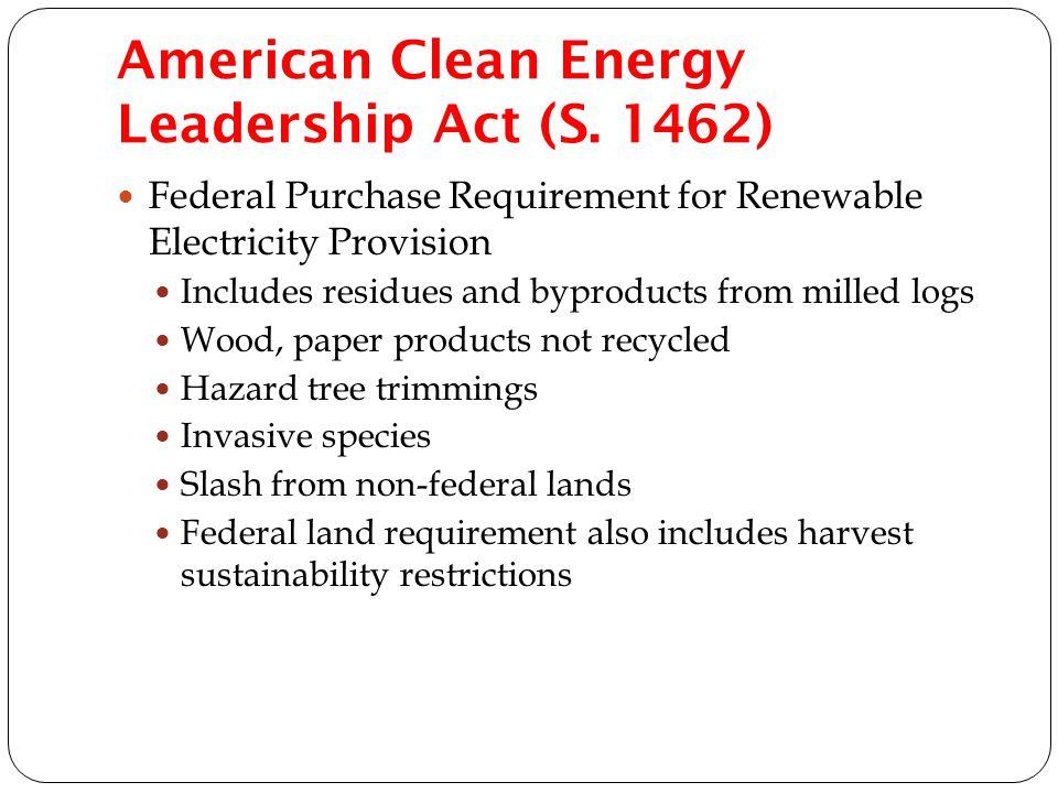 American Clean Energy Leadership Act (S.