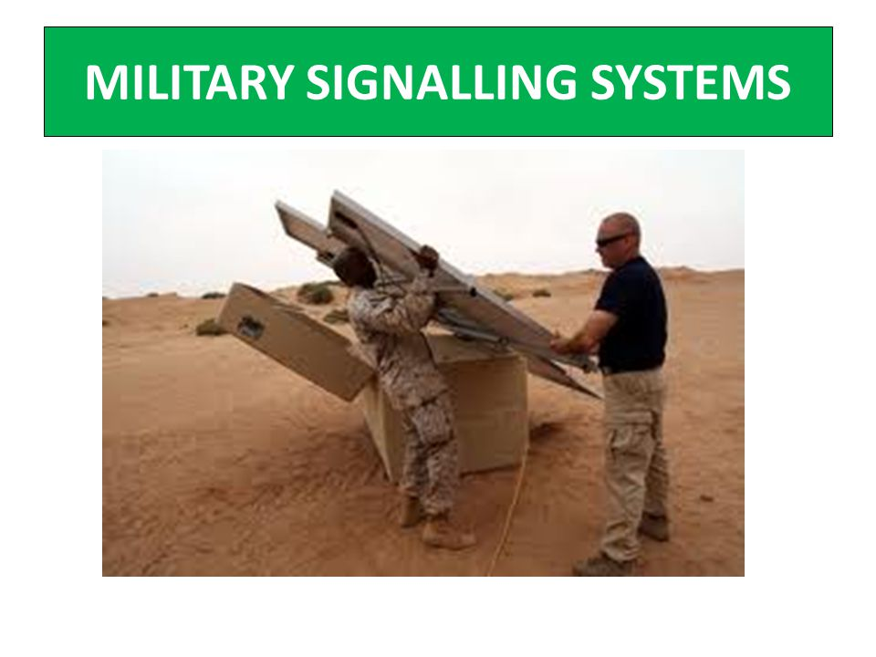 MILITARY SIGNALLING SYSTEMS