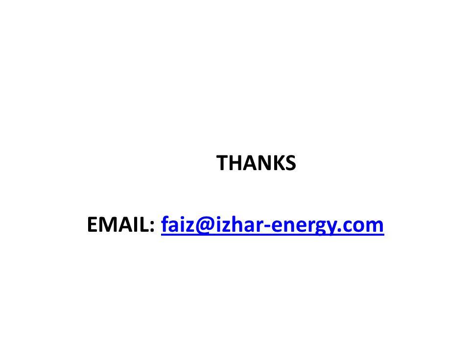 THANKS EMAIL: faiz@izhar-energy.comfaiz@izhar-energy.com