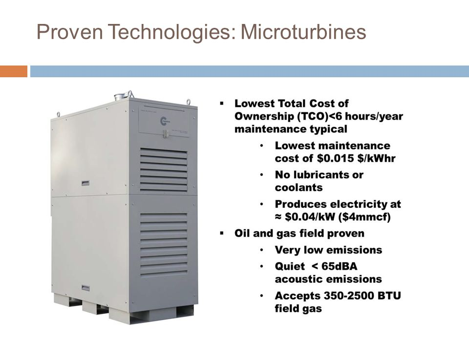 Proven Technologies: Microturbines