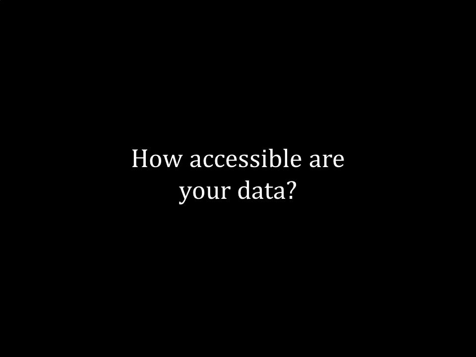 21 How accessible are your data