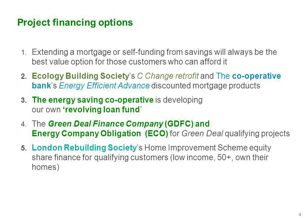 Project financing options 4 1.