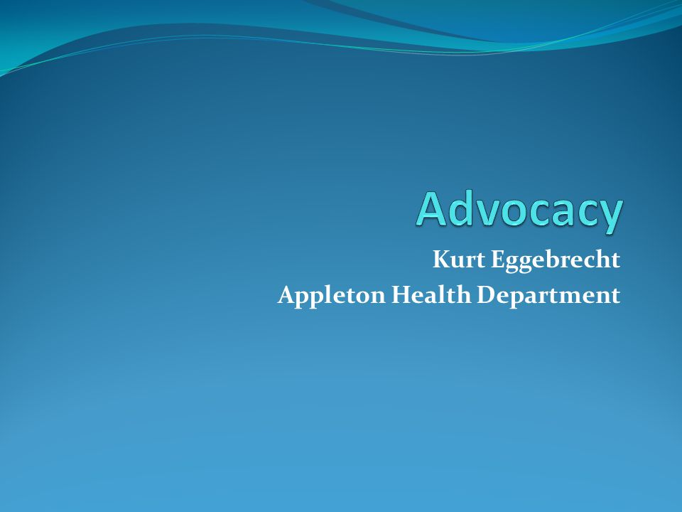 Kurt Eggebrecht Appleton Health Department
