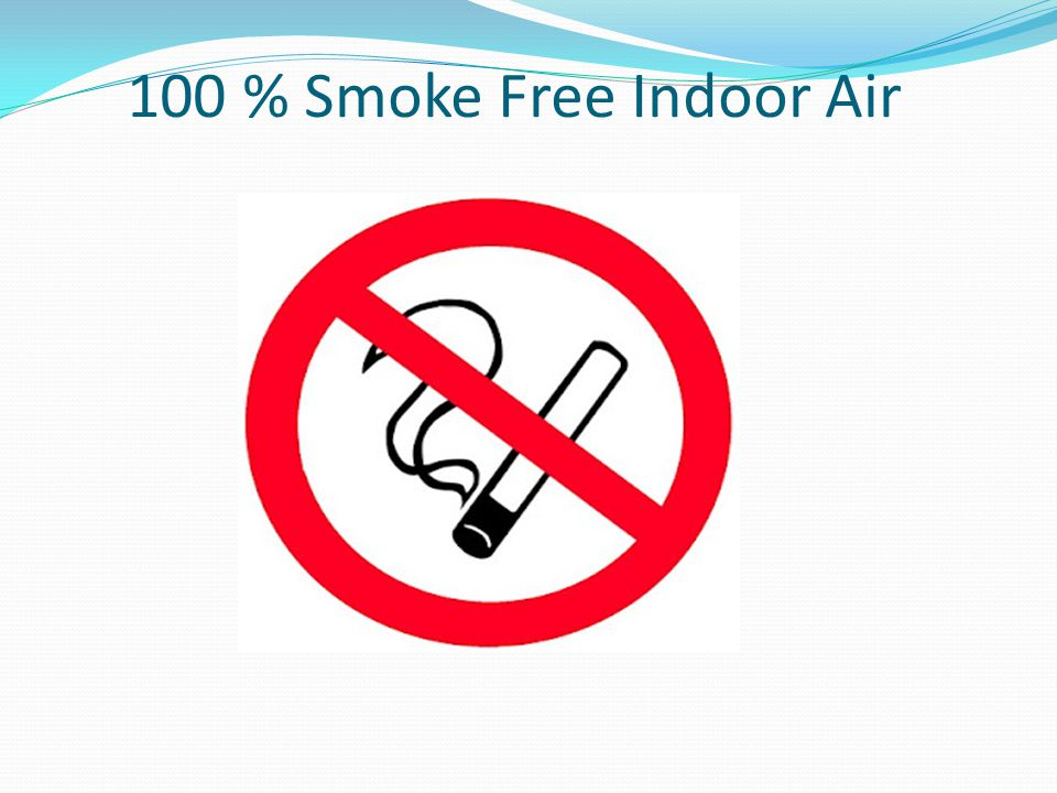 100 % Smoke Free Indoor Air