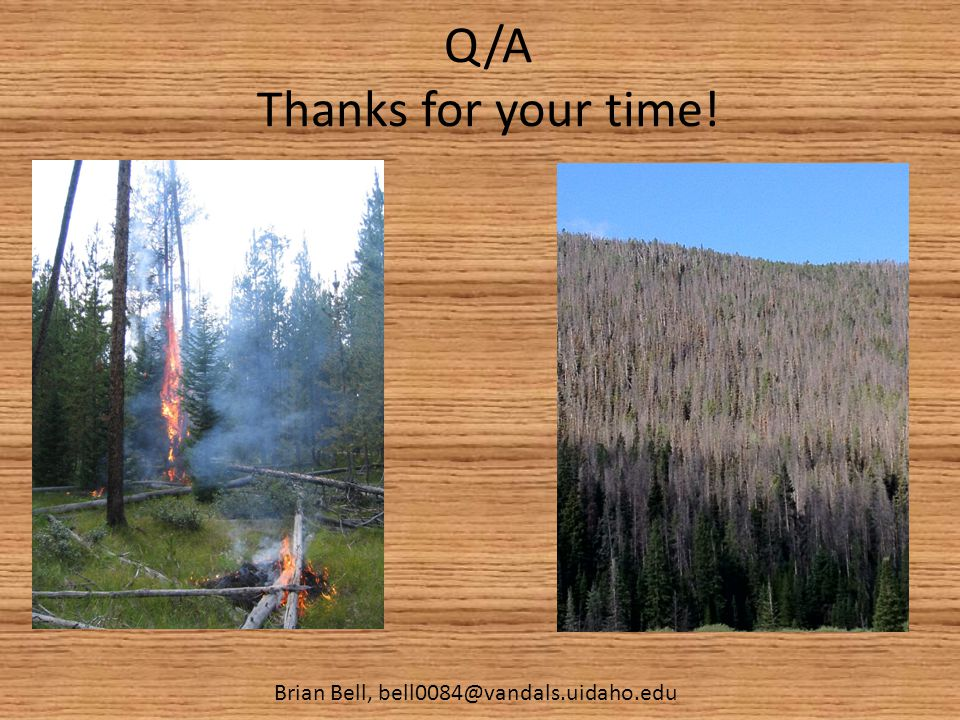 Q/A Thanks for your time! Brian Bell, bell0084@vandals.uidaho.edu